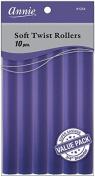 Annie Soft Twist Rollers, Purple, 18cm , 10 Count