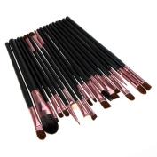 Malloom 20pcs/set Makeup Brush Set tools Make-up Toiletry Kit Wool Make Up Brush Set