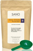 [4 DAY SALE] Zinc Oxide Powder ~ Non-Nano and Uncoated. Cosmetic Pharmaceutical Grade for Natural Sunscreen for Face, Lips and Kids. Free Measuring Scoop and Recipe Book. French Processed in an FDA Compliant Facility.
