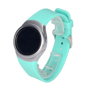for Samsung Gear S2 Band,Voberry Luxury Silicone for Samsung Smartwatch Replacement Band for Samsung Gear S2 SM-R720