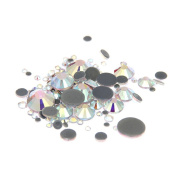 Nizi Jewellery Crystal AB Colour Hotfix Glass Strass Rhinestones For Nails Art Decorations Mixed Sizes About 1000pcs