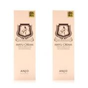 Korean Cosmetics_Anjo Professional Mayu Cream 80mlx2ea Horse Oil Anti-wrinkle Whitenning