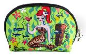 Fluff Leopard Mermaid Cosmetic Bag - Vintage Inspired Pinup