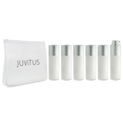 Airless Twist Top Pump Bottle Container - 30 ml / 1 oz oz (6 Pack) + Clear Travel Bag