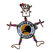 Creative Alternatives Dancing Girl Tusker Bottle Cap Pin with Beads