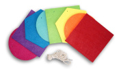 Classroom DIY Felt Banner with Rope String - Colourful Shapes - 150cm
