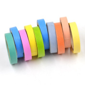 We-buys Rainbow Decorative Paper Stickers Washi Tape Adhesive Tape Scrapbooking DIY Decor