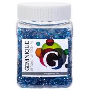 Gemnique Mini Glass Gems - Caribbean Blue Lustre