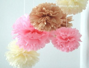 Sorive® 18pc Tissue paper pom poms flower kit - Size 8 10 36cm Comes in multi colour pack Great for Decorations!