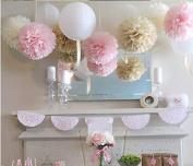 Sorive® Mixed Colour Fluffy Tissue Paper Pom Pom Flower Balls Wedding Favours Decorations Packe of 3 PCS SRI1906