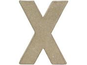 Craft Ped Paper Mache 10cm Letter X Kraft