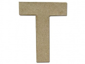 Craft Ped Paper Mache 10cm Letter T Kraft