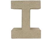 Craft Ped Paper Mache 10cm Letter I Kraft