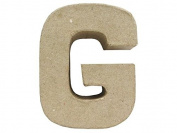 Craft Ped Paper Mache 10cm Letter G Kraft