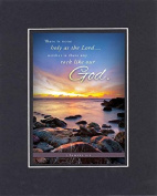 GoodOldSaying - Poem for Inspirations - There is none holy as the Lord . . .(1 Samuel 2:2) . . . on 8x10 Biblical Verse set in Double Mat (Black On Black) - A Priceless Poetry Keepsake Collection