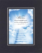 GoodOldSaying - Poem for Bereavement - Well done, thou good and faithful servant . . . on 8x10 Biblical Verse set in Double Mat (Black On Black) - A Priceless Poetry Keepsake Collection
