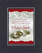GoodOldSaying - Poem for Love & Marriage - Love must be sincere . . . on 8x10 Biblical Verse set in Double Mat (Black On Black) - A Priceless Poetry Keepsake Collection