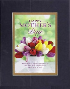GoodOldSaying - Poem for Mothers - Mother's Day (Proverbs 31:31) . . . Poem on 8x10 Biblical Verse set in Double Bevelled Matting (Black On Gold) - A Priceless Poetry Keepsake Collection