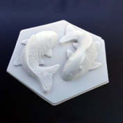 Giftshop12 Plastic Koi Fish Goldfish Shaped Mould Two Fish