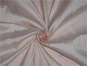 LIGHT PINK X IVORY colour PLAIDS~SILK DUPIONI FABRIC~WIDTH 110cm - Hobbies,Home decor,Sewing,Fashion,Doll Dress,Furnishing,Interior.