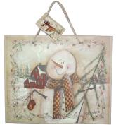 Matte Finish Deluxe Gift Bag - Woodland Snowman (Medium