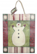 Matte Finish Deluxe Gift Bag - Seasons Greetings Snowman (Medium
