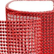 Koyal Red Diamond Rhinestone Ribbon Wrap 11cm W x 90cm L