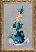 Aphrodite Mermaid LINEN Kit Beaded Counted Cross Stitch by Nora Corbett Mirabilia Designs MD144 (Bundle