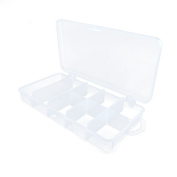 10 PCS Arts Crafts Sewing Organisation Storage Transport Boxes Organisers Clear Beads Tackle Box Case 697AI