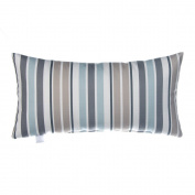Glenna Jean Luna Stripe Pillow Rectangular, Iceberg/Taupe/Glacier/Sky
