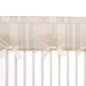 Glenna Jean Florence Short Crib Rail Protector, Grey/Taupe/Pink/Cream