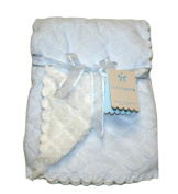 Monlapin Baby Blanket 80cm X 100cm , Clolor Light Blue/White