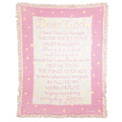 Dicksons Dear God I Thank Thee Cotton Throw Blanket for Girl, Pink