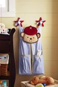 Baby Boy Safari Natural Crib Bedding nappy stacker - monkey