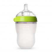 Comotomo Natural Feel Baby Bottle, Green, 240mls
