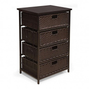 Badger Basket August Collection Tall Four Basket Storage Unit - Espresso Storage Baby Furniture