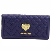 Love Moschino Women's Blue Quilted Leather Clutch Shoulder Handbag