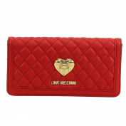 Love Moschino Women's Red Quilted Leather Clutch Shoulder Handbag