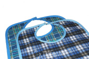 Adult Bib Large Extra Long, Washable Clothing Spill, Mealtime Protector, Waterproof Ladies & Men