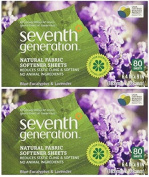 Seventh Generation - Fabric Softener Sheets, Blue Eucalyptus and Lavender - 80 Sheets