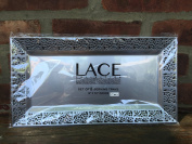 Silver Spoons and More lace Rim 36cm x 19cm Heavyweight Plastic Set of 2 Serving Trays