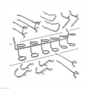 100 Pcs Organisers Assorted Hooks Garage Pegboard Hooks Garage Set