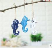 Nautical Decor Wall Ornament Wooden Fish Star Sea Horse Mediterranean Series Decorative Wall Hanging Gift Crafts 3pcs/set