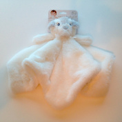 Blankets and Beyond Security Blanket Plush White Bear with Grey Ears
