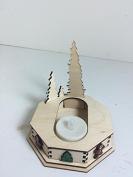 Ginger Cottages - Trees, Single Cottage Displayer w/ Amber Tea Light - GCD105T - A