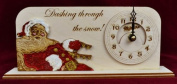 Ginger Cottages - Christmas Clock - CC105 Dashing Through The Snow