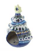 Polish Pottery Holiday Pine Christmas Tree Luminary