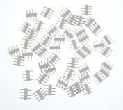 LEDlights white 50pcs 4 pin Male Connector Connecter for 3528 5050 SMD RGB Led Strip Lighting