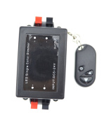 LEDlights Keychain LED Dimmer Controller with RF Remote, 12-24V DC, 8Amps, Used to Dim Single Colour LED Strip Lights.