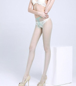 Seamless green brand new stealth anti-hook stockings sexy open files ultra-thin transparent flesh-coloured summer nightclub bottoming tight pantyhose legs